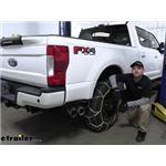 Titan Chain Diamond Alloy Snow Tire Chains Installation - 2019 Ford F-350 Super Duty