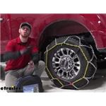 Titan Chain Diamond Alloy Snow Tire Chains Installation - 2020 Ford F-250 Super Duty