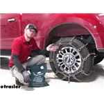 Titan Square Link Snow Chains with Cam Tighteners Installation - 2020 Ford F-250 Super Duty