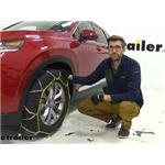 Titan Alloy Snow Tire Chains Installation - 2020 Hyundai Santa Fe