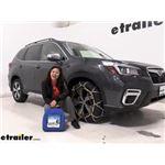 Titan Chain Diamond Alloy Snow Tire Chains Installation - 2020 Subaru Forester