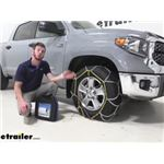Titan Chain Diamond Alloy Snow Tire Chains Installation - 2020 Toyota Tundra