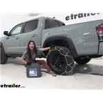 Titan Chain Alloy Snow Tire Chains Installation - 2021 Toyota Tacoma