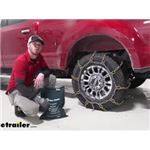 Titan Chain Snow Tire Chains for Wide Base Tires Installation - 2020 Ford F-250 Super Duty