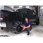 Titan Chains Tire Chains with Cams Installation - 2013 Ram 2500