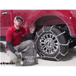 Titan Snow Tire Chains for Wide Base Tires Installation - 2020 Ford F-250 Super Duty