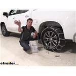 Titan Chain Snow Tire Chains Installation - 2020 Chevrolet Silverado 1500