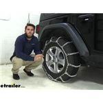 Titan Chain V-Bar Snow Tire Chains Installation - 2020 Jeep Wrangler Unlimited