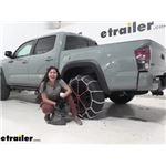 Titan Chain V-Bar Snow Tire Chains Installation - 2021 Toyota Tacoma
