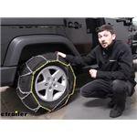 Titan Chain Diamond Alloy Snow Tire Chains Installation - 2017 Jeep Wrangler Unlimited