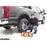 Titan Cable Snow Tire Chains Installation - 2020 Ford F-250 Super Duty