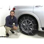Titan Cable Snow Tire Chains Installation - 2019 Infiniti QX80