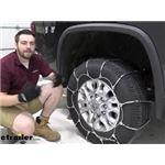 Titan Cable Snow Tire Chains Installation - 2020 Chevrolet Silverado 3500