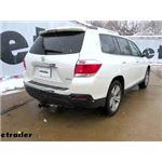 etrailer.com Trailer Hitch Installation - 2012 Toyota Highlander