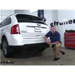 etrailer.com Trailer Hitch Installation - 2014 Ford Edge