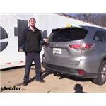 Draw-Tite Max-Frame Trailer Hitch Intstallation - 2015 Toyota Highlander