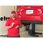 Draw-Tite Sportframe Trailer Hitch Installation - 2016 Honda Civic