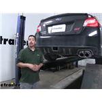 EcoHitch Invisi Trailer Hitch Installation - 2019 Subaru WRX