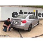 Curt Trailer Hitch Installation - 2019 Subaru WRX