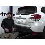 EcoHitch Hidden Trailer Hitch Installation - 2020 Subaru Forester