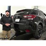 etrailer Class III Trailer Hitch Installation - 2021 Subaru Crosstrek