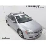 Thule AeroBlade Traverse Roof Rack Installation - 2006 Honda Accord