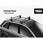 Thule Crossbar Evo Flush Rail Feet Manufacturer Mounting Tutorial