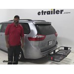 Curt  Hitch Cargo Carrier Review - 2015 Toyota Sienna