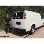 etrailer.com Trailer Hitch Installation - 2015 Chevrolet Express Van