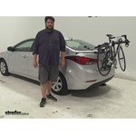 Hollywood Racks Baja Trunk Bike Racks Review - 2016 Hyundai Elantra