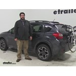Hollywood Racks Expedition Trunk Bike Racks Review - 2014 Subaru XV Crosstrek