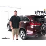 Hollywood Racks Over-the-Top Trunk Bike Racks Review - 2018 toyota highlander