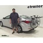 Hollywood Racks  Trunk Bike Racks Review - 2016 Hyundai Elantra