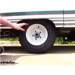Kenda Trailer Tire with White Wheel Installation