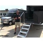Lippert RV and Toy Hauler Patio Victory Step Manual Fold-Down Steps Review and Installation