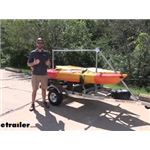 Malone MegaSport 2 Tier Trailer with SaddleUp Pro Kayak Cradles Assembly