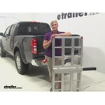 MaxxTow Aluminum Hitch Cargo Carrier Review - 2014 Nissan Frontier