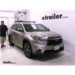 Rhino Rack Road-Warrior Roof Bike Racks Review - 2016 Toyota Highlander