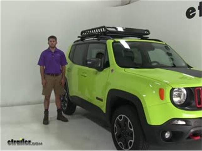 BLACK ROOF RACK CROSS BARS ROOF RAILING LOCKABLE FOR JEEP RENEGADE SUV 2015-ONWARDS