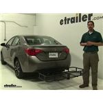 Surco Products  Hitch Cargo Carrier Review - 2017 Toyota Corolla