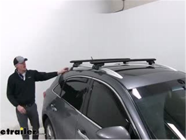 To Fit 2010 Volvo V60 Locking Cross Bars for Integrated Roof Solid Rails