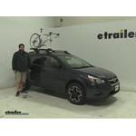 Thule  Roof Bike Racks Review - 2014 Subaru XV Crosstrek