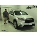 Thule  Roof Rack Review - 2015 Toyota Highlander