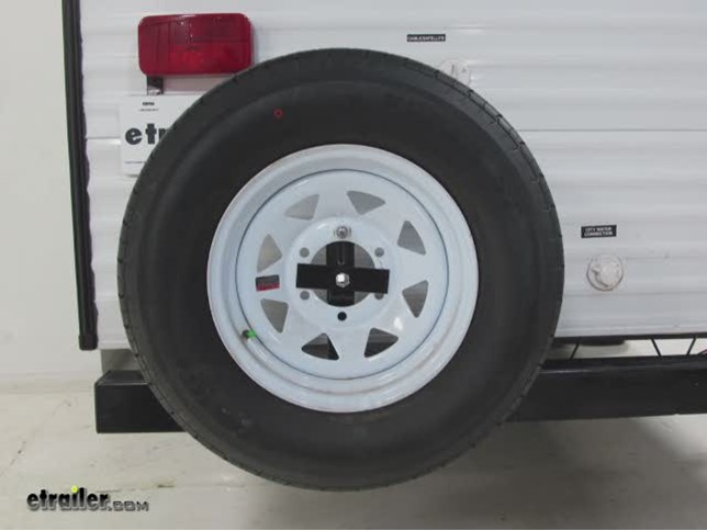 Dumble Universal RV Bumper Spare Tire Mount for 4-5 Lug x 4-4.75 Inch Hole Pattern Trailer Tire Mount Bracket Carrier