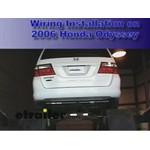 Trailer Wiring Harness Installation - 2006 Honda Odyssey