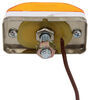 Mini Trailer Clearance or Side Marker Light - Submersible - Incandescent - White Base - Amber Lens Rectangle 003230