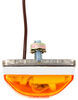 Mini Trailer Clearance or Side Marker Light - Submersible - Incandescent - White Base - Amber Lens 2L x 1W Inch 003230