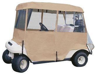 Classic Accessories Deluxe 4 - Sided Golf Cart Enclosure - Sand Enclosure,Golf Cart Storage 052963720723