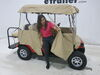 Classic Accessories Deluxe 4 - Sided Golf Cart Enclosure - Sand Tan 052963720723