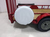 """Classic Accessories Custom Fit Spare Tire Cover - Model 4 - 26.5"""" to 27.5"""" - Snow White 27 Inch Tires 052963751307"""